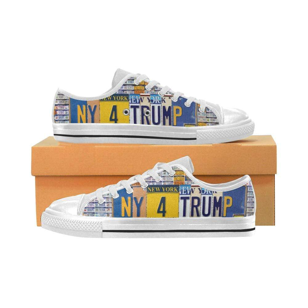 PrintedKicks New York For Trump License Plate Low Tops