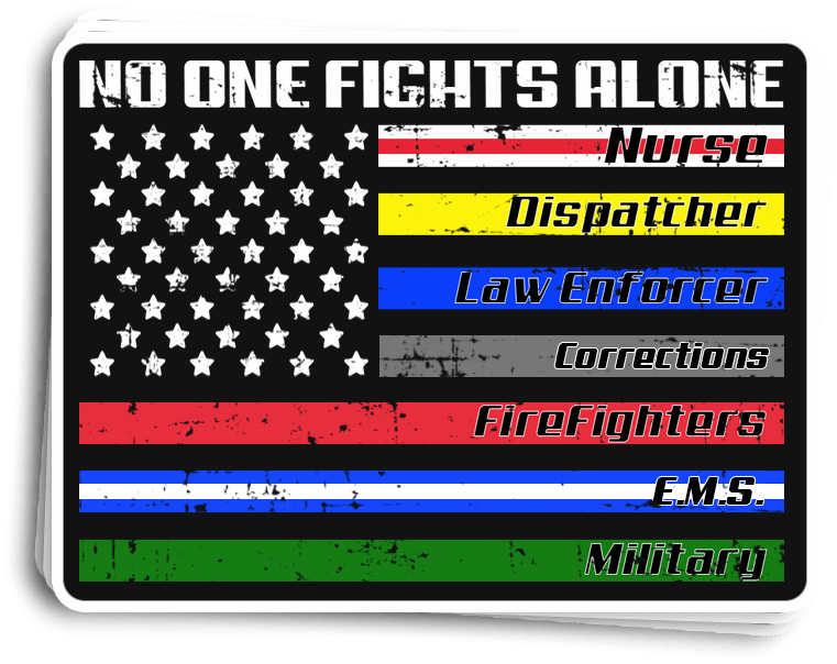PrintedKicks No One Fights Alone Decal