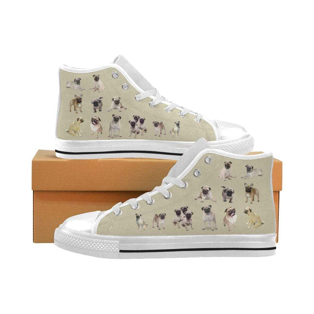 PrintedKicks Pug Tan Canvas High Tops