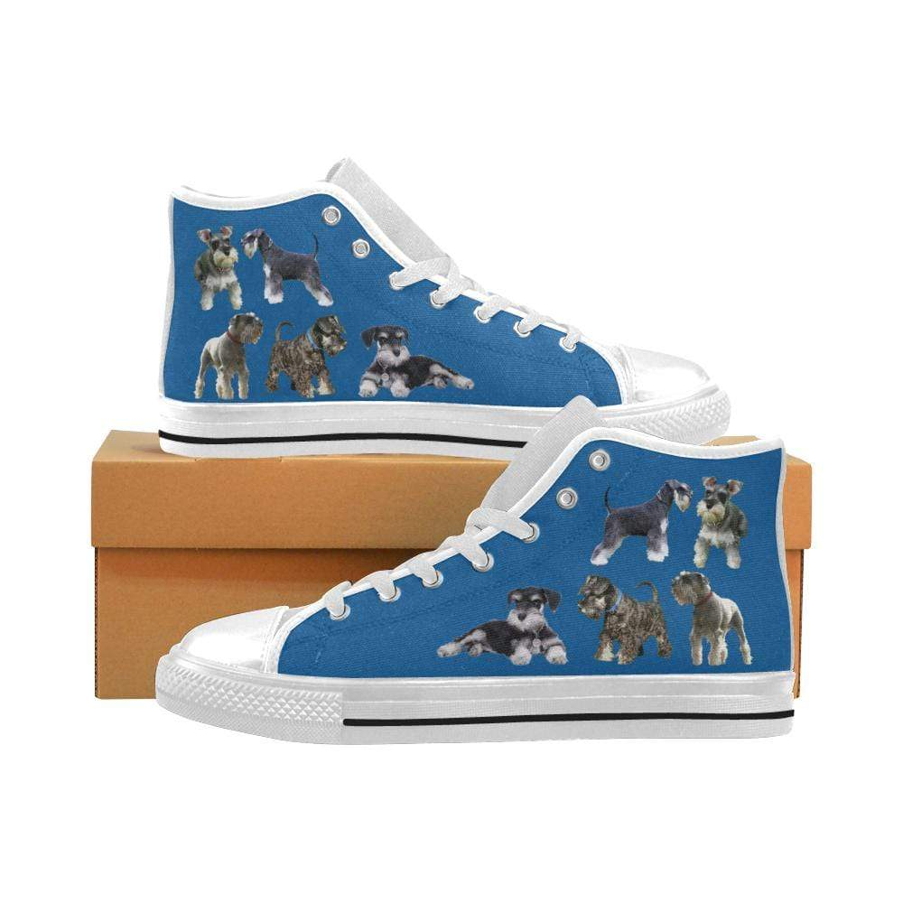 PrintedKicks Schnauzer Canvas High Tops Mens High Top - White Sole / US6 (EU38)