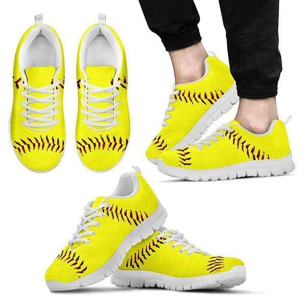 PrintedKicks Softball Premium Mesh Sneakers Women's Sneakers - White - Shoes / US5 (EU35)