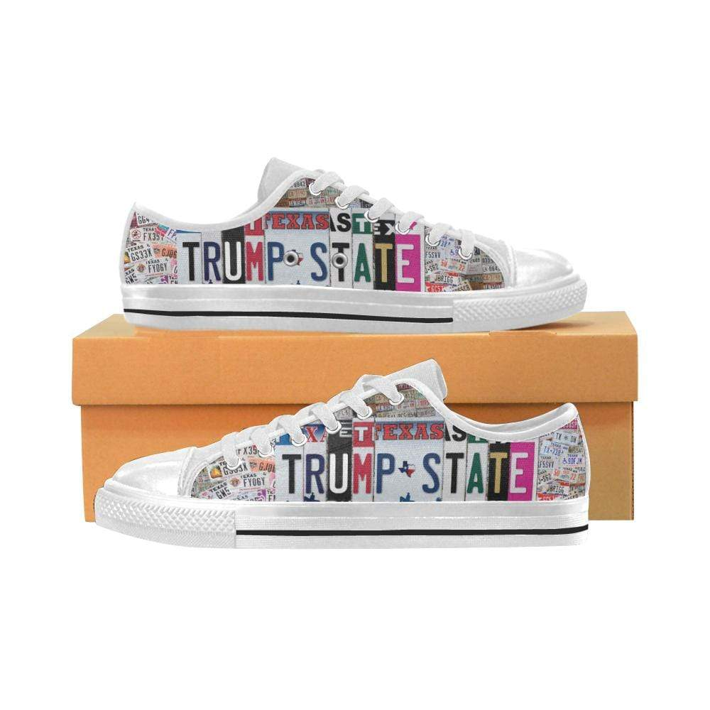 PrintedKicks Texas is Trump State License Plate Low Tops