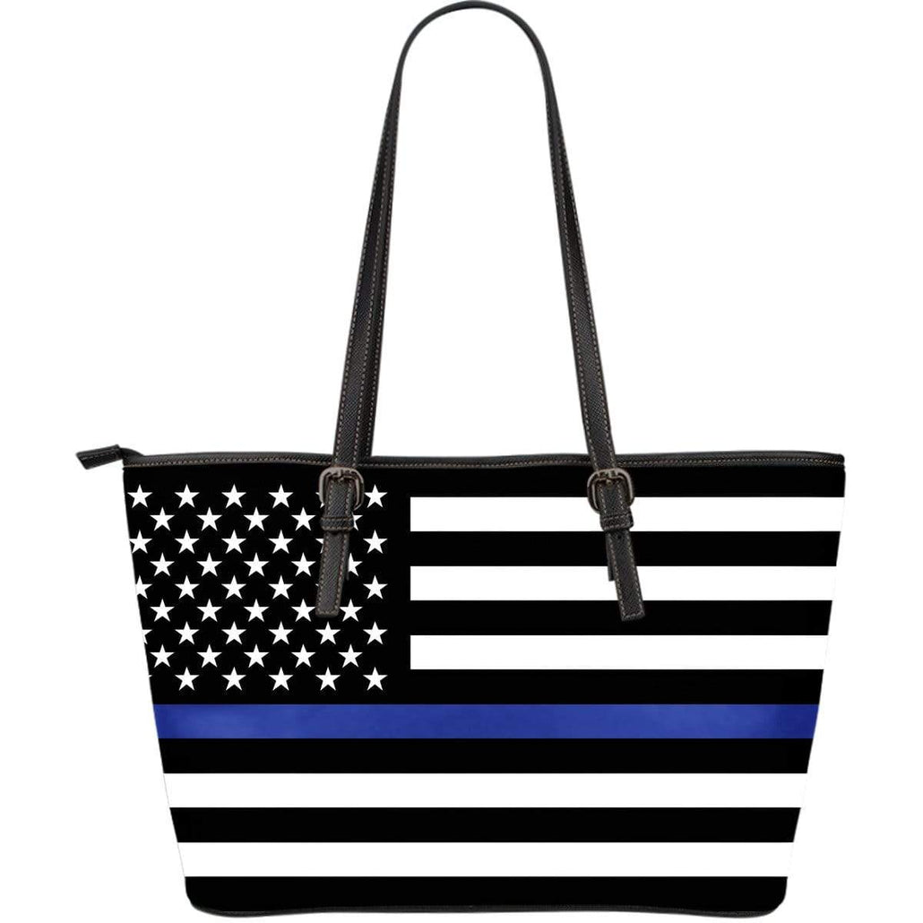 Thin Blue Line Large Leather Tote
