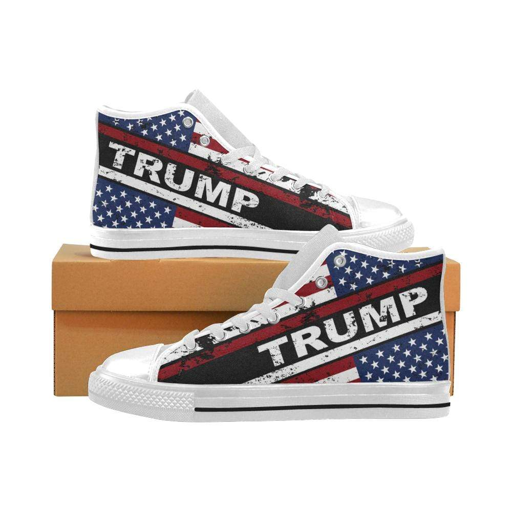 PrintedKicks Trump Flag Canvas High Tops