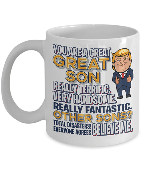 PrintedKicks Trump - Great Son Mug 11oz Mug / White