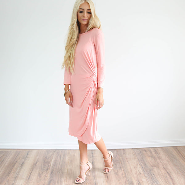 Blush Knot Dress