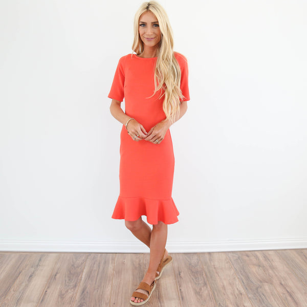 Kat Ruffle Dress