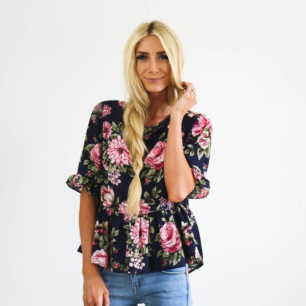 Dessie Top in Navy