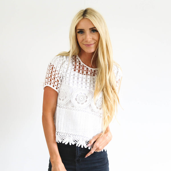 Cascade Lace Top