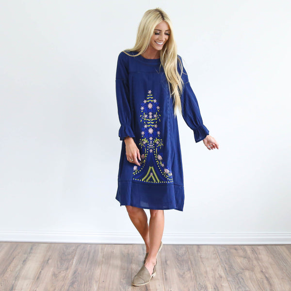S & Co. Daphne Embroidered Dress
