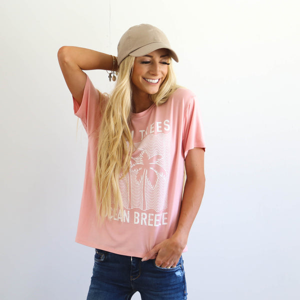 Beach Waves Tee in Blush