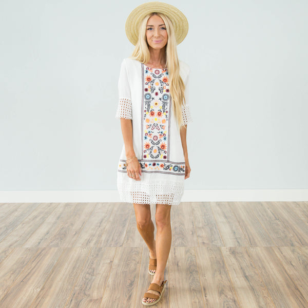 Raye Embroidered Dress