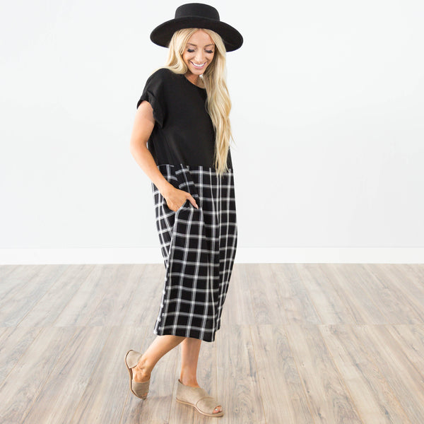 Jillian Plaid Dress