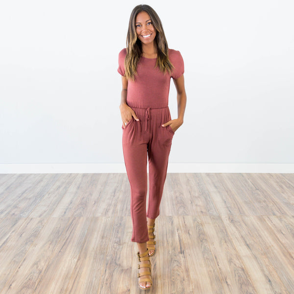 Khloe Jumpsuit in Brick