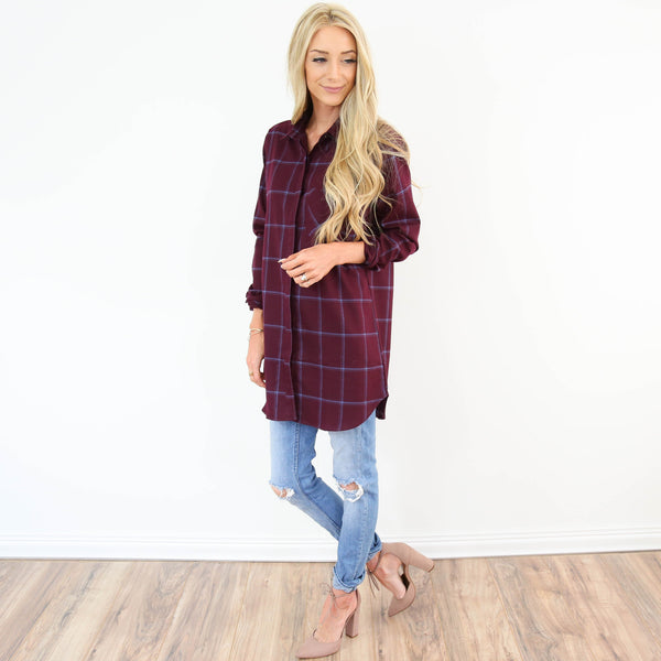 Clouette Plaid Tunic