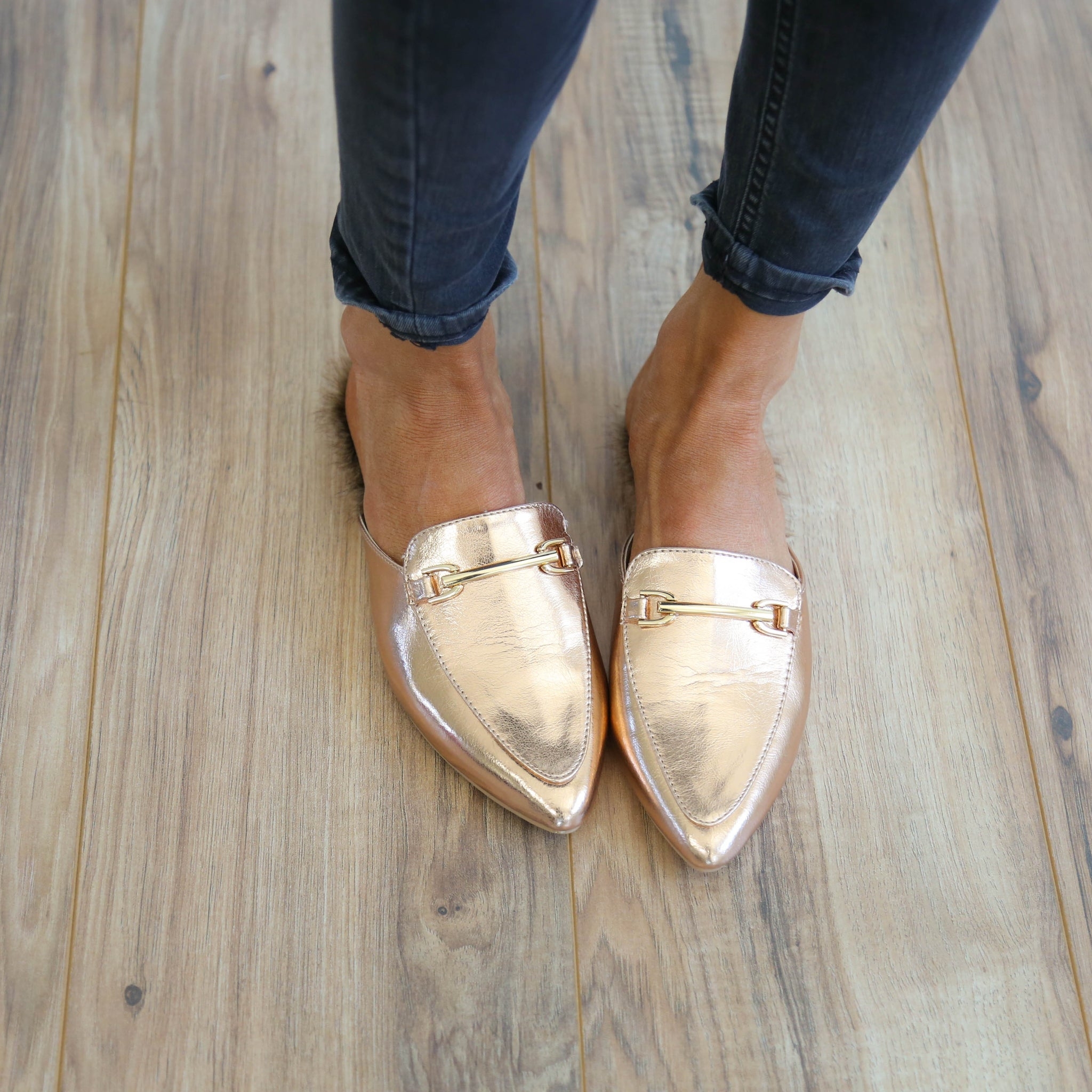 Annabelle Flats in Rose Gold