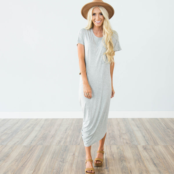 Dezie Dress in Heather Grey