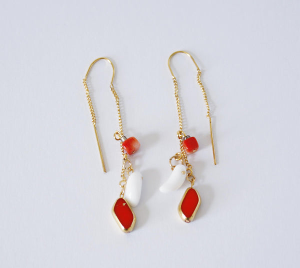 Vintage German Glass and Coral