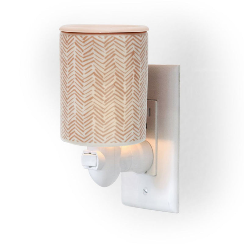 Herringbone Outlet Plug-In Wax Warmers - Fun shapes make mixing and melting a breeze!