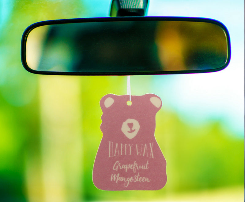 Happy Wax - Grapefruit Mangosteen Scented Car Freshener - All Happy Wax Car Cubs are infused with essential oils, you'll love opening your car door after a long day at work!