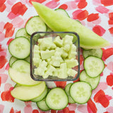 Cucumber Melon Classic Tin Wax Melts - All Happy Wax scented wax melts are made with 100% all natural soy wax and are infused with essential oils. Perfect for using with your electric wax melt, cube, or tart warmer to deliver flame-free home fragrance!