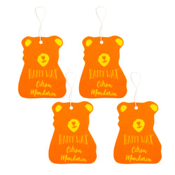 Happy Wax - Citron Mandarin Scented Car Freshener - All Happy Wax Car Cubs are infused with essential oils, you'll love opening your car door after a long day at work!