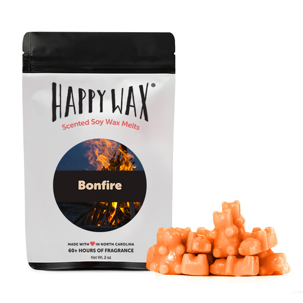 Happy Wax Bonfire Wax Melts - All Happy Wax scented wax melts are made with 100% all natural soy wax and are infused with essential oils.