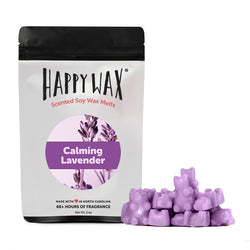 Calming Lavender 2 Oz. Sample Pouch - All Happy Wax melts are made with 100% all natural soy wax and are infused with essential oils!