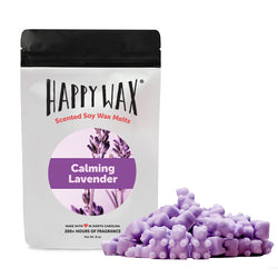 Calming Lavender  Wax Melts - All Happy Wax melts are made with 100% all natural soy wax and are infused with essential oils!