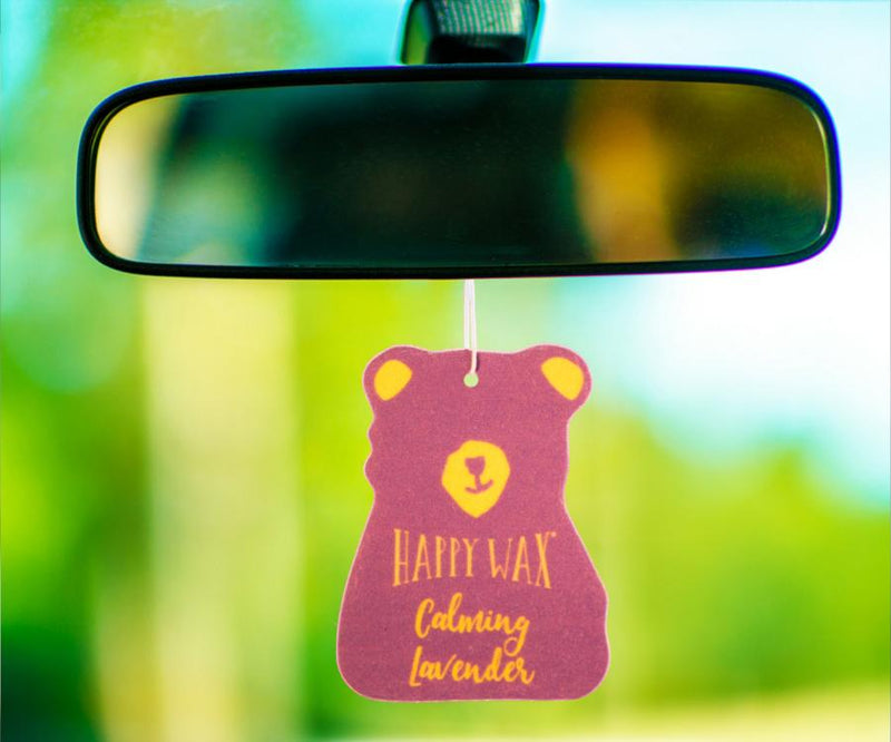 Happy Wax - Calming Lavender Scented Car Cub Freshener - All Happy Wax Car Cubs are infused with the finest essential oils! You'll love opening your car door after a long day at work!