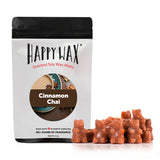 Cinnamon Chai Wax Melts - Happy Wax Soy Wax Melts - All Happy Wax melts are made with 100% all natural soy wax. Use our scented wax melts in any wax melt, cube, or tart warmer. Enjoy hours of flame-free home fragrance.