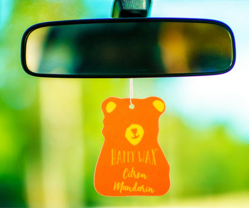 Happy Wax Citron Mandarin Scented Car Freshener - All - $5.95