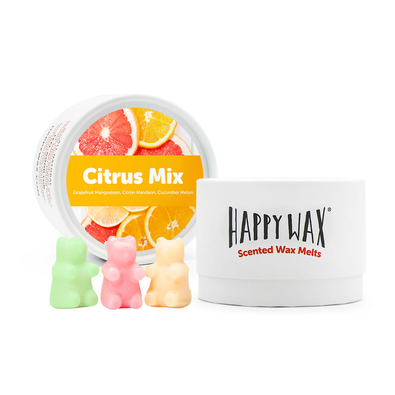 Spring Mix Tin Gift Set - Happy Wax Soy Wax Melts - All Happy Wax melts are made with 100% all natural soy wax. Use our scented wax melts in any wax melt, cube, or tart warmer. Enjoy hours of flame-free home fragrance.