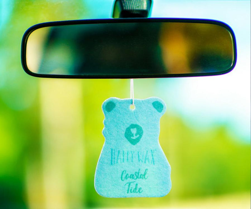 Happy Wax - Coastal Tide Scented Car Freshener -All Happy Wax Car Cubs are infused with essential oils, you'll love opening your car door after a long day at work!