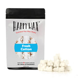 Happy Wax Fresh Cotton Wax Melts - All Happy Wax scented wax melts are made with 100% all natural soy wax and are infused with essential oils. Use with any scented wax melt, cube, or tart warmer for hours of flame-free home fragrance! Adorable bear-shaped scented wax melts make mixing & melting a breeze.