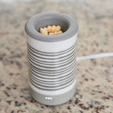 Happy Wax - Gray Stripe Signature Wax Melt Warmer - se our electric wax warmers with any scented wax melt, cube or tart!