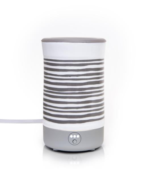 Happy Wax Gray Stripe Signature Wax Melt Warmer