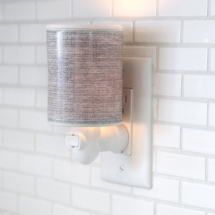 Outlet Warmer in Gray Linen + 3.6 oz Wax Melts