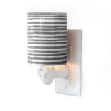 Happy Wax Gray Stripe Outlet Plug-In Wax Warmer