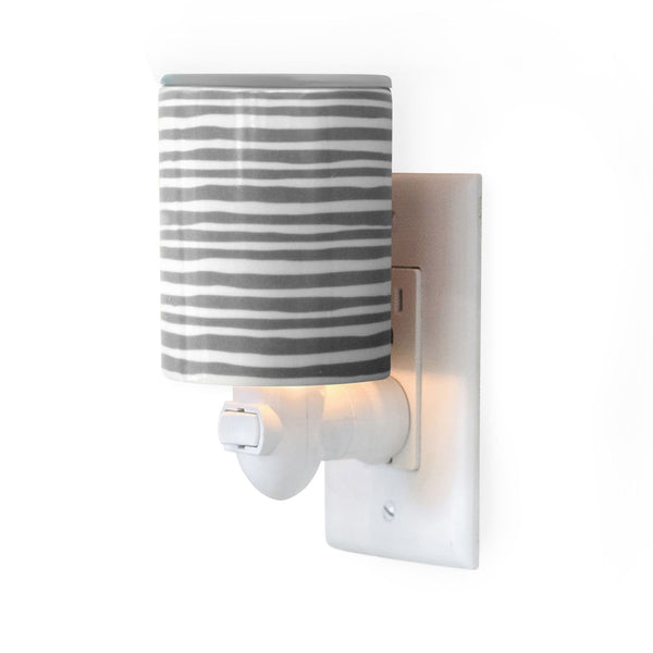 Gray Stripe Outlet Plug-In Wax Warmers - Fun shapes make mixing and melting a breeze!
