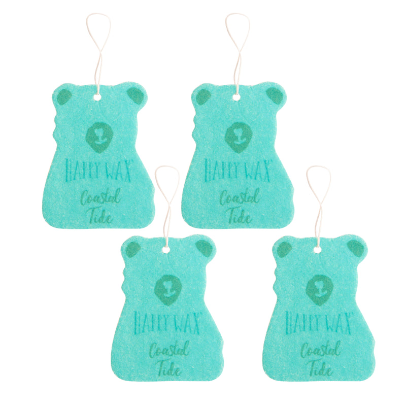 Happy Wax - Coastal Tide Scented Car Fresheners - All Happy Wax Car Cubs are infused with essential oils, you'll love opening your car door after a long day at work!