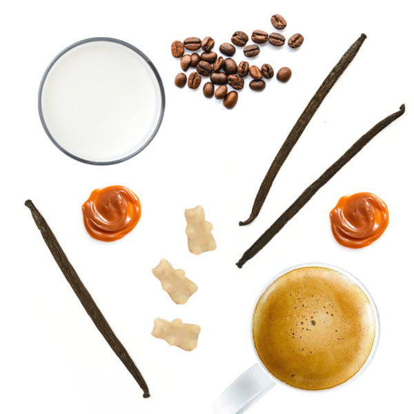 Half Pounder Caramel Macchiato Wax Melts - Fun shapes make mixing and melting a breeze! All Happy Wax scented wax melts are made with 100% all natural soy wax!