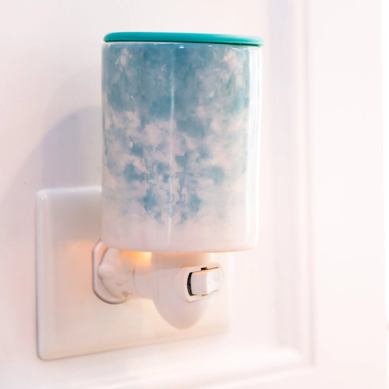 Happy Wax - Watercolor Outlet Plug-In Wax Warmer - Use our outlet plug in wax warmer with any scented wax melts, cubes or tarts for hours of flame-free home fragrance!