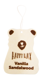 Happy Wax Vanilla Sandalwood Scented Car Cub Air Freshener (4 Pack) - Infused with essentials you'll love opening your car door after a long day at work! All Happy Wax Scented Car Fresheners are infused with essential oils.