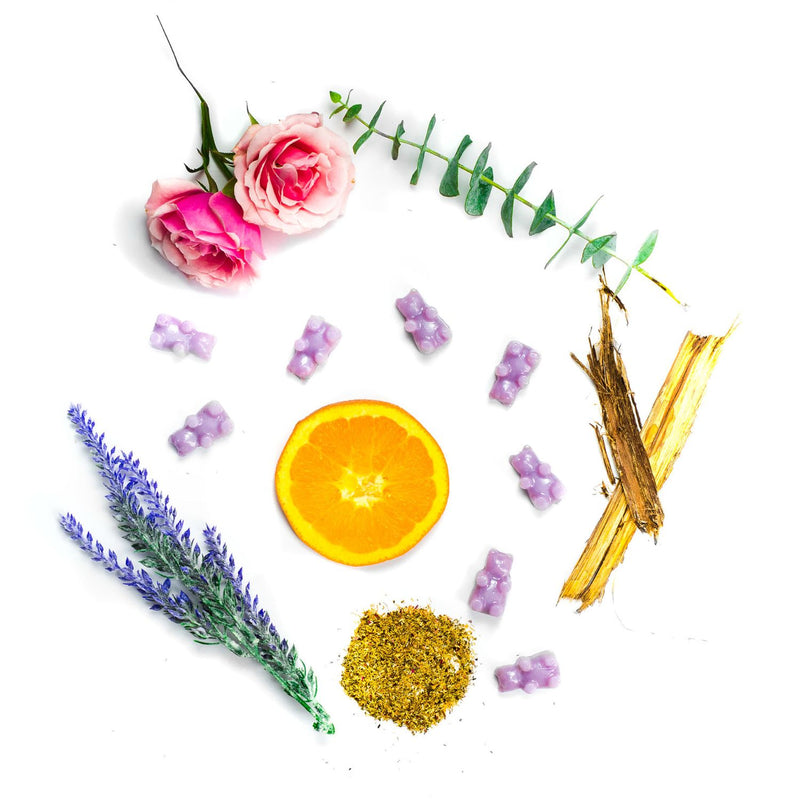 Lavender Chamomile 2 Oz. Sample Pouch - Fun shapes make mixing and melting a breeze!