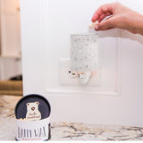 Happy Wax - White Terrazzo Outlet Plug-In Wax Warmer - Use our Happy Wax electric wax melter with any scented wax melts, cubes or tarts for hours of flame-free home fragrance!