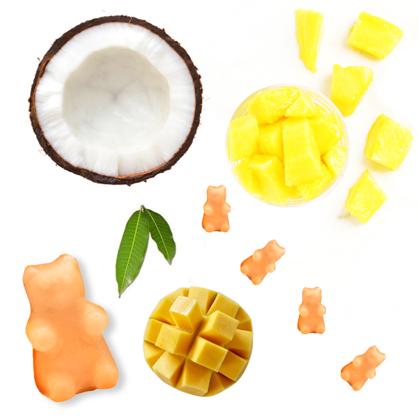 Happy Wax - Mango Daiquiri Wax Melts - All Happy Wax scented wax melts are made with 100% all natural soy wax and are infused with essential oils. Perfect for using with your electric wax melt, cube, or tart warmer to deliver flame-free home fragrance! Adorable bear shapes make mixing and melting scented wax melts a breeze!