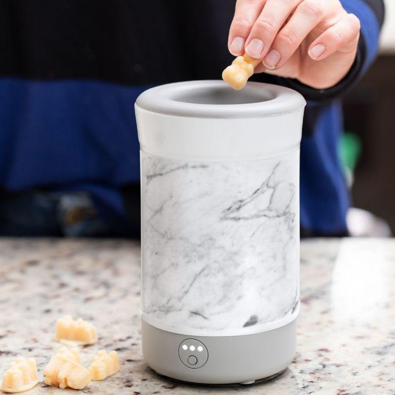 Happy Wax - Marble Signature Wax Melt Warmer - Use our electric wax melter with any scented wax melts, cubes or tarts for hours of flame-free home fragrance.