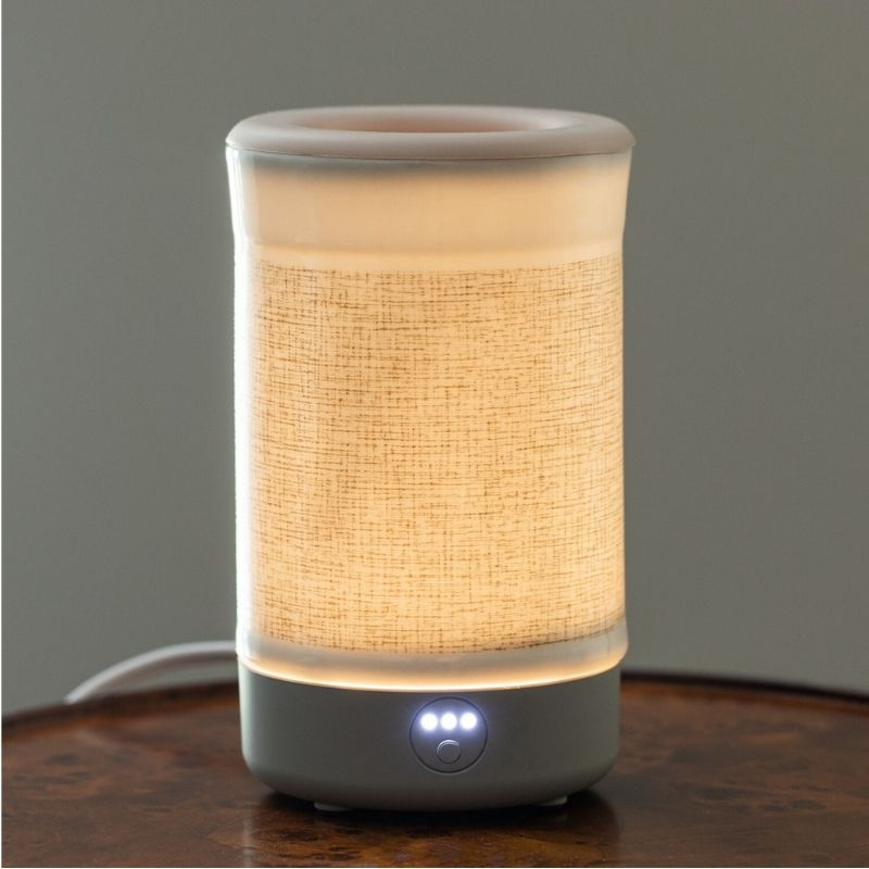 Happy Wax - Natural Canvas Signature Wax Melt Warmer - Use our electric wax warmers with any scented wax melt, cube or tart!