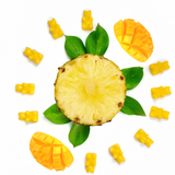 Pineapple Mango Wax Melts - Happy Wax Soy Wax Melts - All Happy Wax melts are made with 100% all natural soy wax. Use our scented wax melts in any wax melt, cube, or tart warmer. Enjoy hours of flame-free home fragrance.